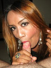 Miniskirt No Panty Gaping Bareback Wide open and raw gaping for Ladyboy Sai