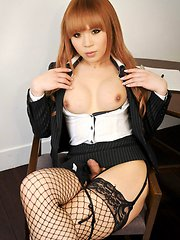 a sophisticated Japanese business t-girl who only wants to please you.