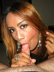 Wide open and raw gaping for petite Ladyboy fuckdoll Sai