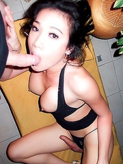 Pattaya Ladyboy May loves blowjobs and hard bareback sex